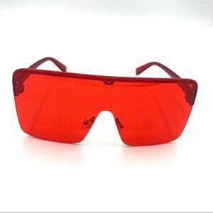 Red Oversized Sunglasses